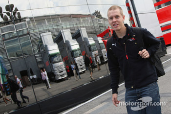 Sebastian Vettel, Scuderia Toro Rosso arrives in the paddock