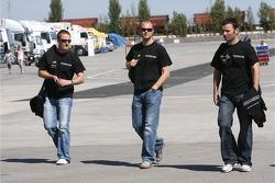 Tim Mullen, Tim Sugden and Darren Turner