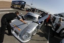 Riley-Matthews Motorsports Pontiac Riley at technical inspection