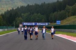 Heikki Kovalainen, Renault F1 Team, Spa Francorchamps Trackwalk