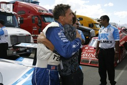DP and overall pole winner Scott Pruett celebrates with wife Judi