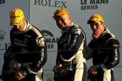 Podium: third place Joao Barbosa, Stuart Hall, Martin Short