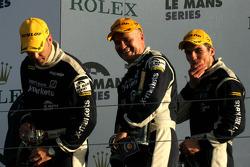 Podium: third place Joao Barbosa, Stuart Hall, Martin Short