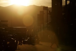 Sunrise on the Miller Motorsports Park paddock