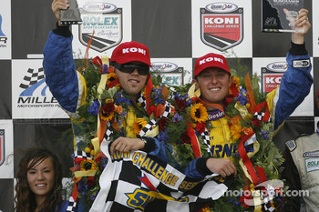 GS podium: race winners Joey Hand and Matthew Alhadeff