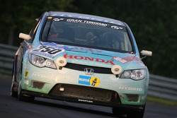 #250 Klaus Niedzwiedz Honda Civic Hybrid: Klaus Niedzwiedz, Henning Klip, Meike Suhr, Martin Westerhoff