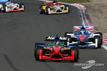 Adrian Zaugg, driver of A1 Team South Africa , leads Oliver Jarvis, driver of A1 Team Great Britain, Christian Vietoris, driver of A1 Team Germany, Neel Jani, driver of A1 Team Switzerland