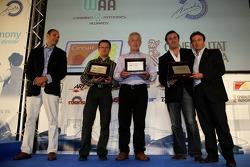 Paul Jackson, iSport International Team Principal with Adrian Campos, Campos Team Principal
