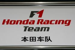 Honda F1 Racing, sign