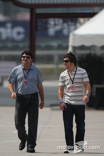 Fernando Alonso, McLaren Mercedes and Luis Garcia Abad, Manager of Fernando Alonso