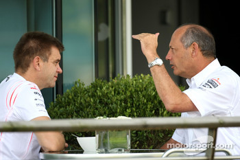 (right), Ron Dennis, McLaren, Team Principal, Chairman