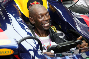 Faithless at the Red Bull garage