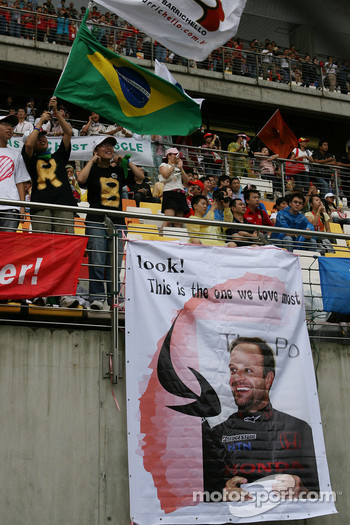 Rubens Barrichello, Honda Racing F1 Team, fans