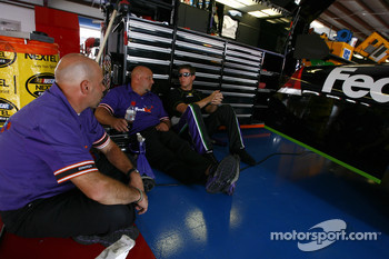 Denny Hamlin with FedEx Ground Chevy crew members