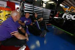 Denny Hamlin with FedEx Ground Chevy crew members