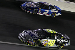 Jimmie Johnson and Kurt Busch