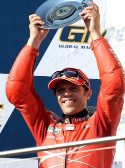 Podium: second place Loris Capirossi