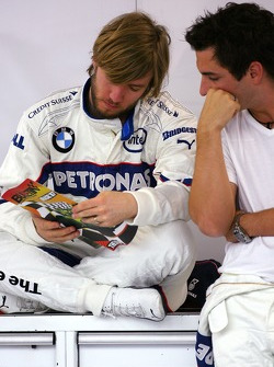 Nick Heidfeld, BMW Sauber F1 Team, Timo Glock, Test Driver, BMW Sauber F1 Team