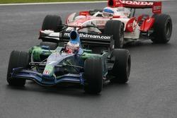 Jenson Button, Honda Racing F1 Team, RA107 and Anthony Davidson, Super Aguri F1 Team, SA07