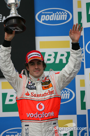 Podium: third place Fernando Alonso