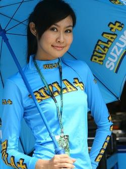 A Rizla+ Suzuki girl