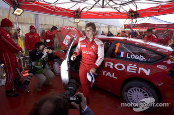 Sébastien Loeb at Citroen Total WRT service area