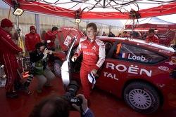 Sébastien Loeb at Citroen Total WRT service area
