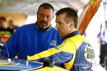 Jeremy Mayfield gets ready to climb aboard his new ride