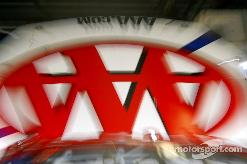 The hood of David Ragan's #6 AAA Ford