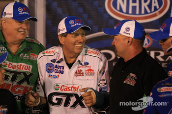 Austin Coil, John Force and Phil Burkart