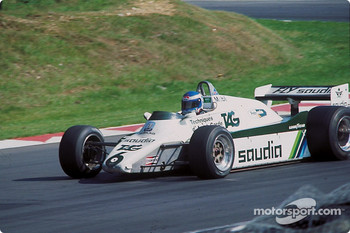 A completely different world: Keke Rosberg in his Williams in 1982
