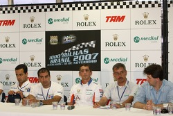 Press conference: Pedro Lamy, Marc Gene and Jean-Christophe Boullion