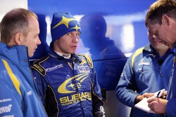 Petter Solberg with David Lapworth and Graham Moore