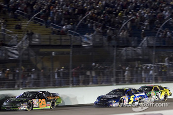 Jeff Burton leads Mark Martin and Carl Edwards