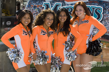 The Marlin Mermaids dance team provided pre-race entertainment