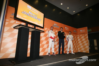Jenson Button, Marcus Gronholm and Andy Priaulx