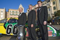 Car Owner, Jack Roush, Crew Chief, Pierre Kuettel, and Carl Edwards