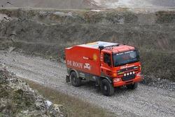 Team de Rooy presentation: Jan de Rooy, Dany Colebunders and Darek Rodewald present the GINAF X2223 rally truck