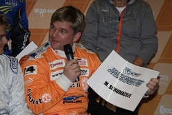 Henning Solberg draws Michael Schumacher