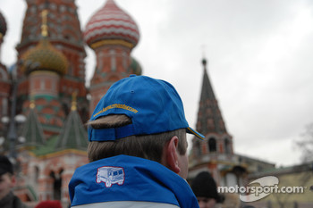 Kamaz-Master ceremonial start on the Red Square in Moscow: Vladimir Chagin