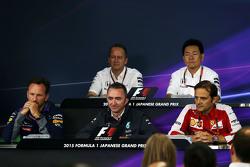 The FIA Press Conference: Jonathan Neale, McLaren Chief Operating Officer, Yasuhisa Arai, Honda Motorsport Chief Officer, Christian Horner, Red Bull Racing Team Principal, Paddy Lowe, Mercedes AMG F1 Executive Director, Luigi Fraboni, Ferrari Head of Engin
