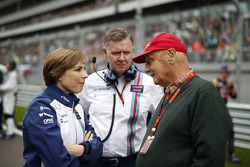 Claire Williams, Williams en Niki Lauda, Mercedes