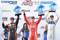 Indy Lights Photos - Podium: Race winner Spencer Pigot, Juncos Racing, second place Sean Rayhall, 8 Star Motorsports and third place Max Chilton, Carlin