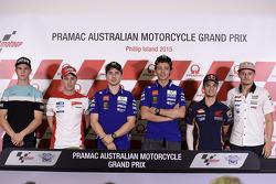 Pre-event press conference: Danny Kent, Andrea Dovizioso, Ducati Team, Jorge Lorenzo, Yamaha Factory Racing, Valentino Rossi, Yamaha Factory Racing, Dani Pedrosa, Repsol Honda Team, Jack Miller