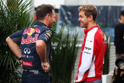 Christian Horner, Red Bull Racing teambaas met Sebastian Vettel, Ferrari