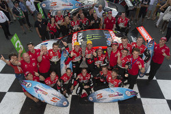 Winners James Courtney and Jack Perkins, Holden Racing Team with Pirtek Endure Cup winners Garth Tander and Warren Luff, Holden Racing Team