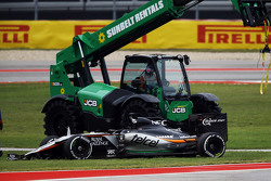 Nico Hulkenberg, Sahara Force India F1 VJM08 retired from the race