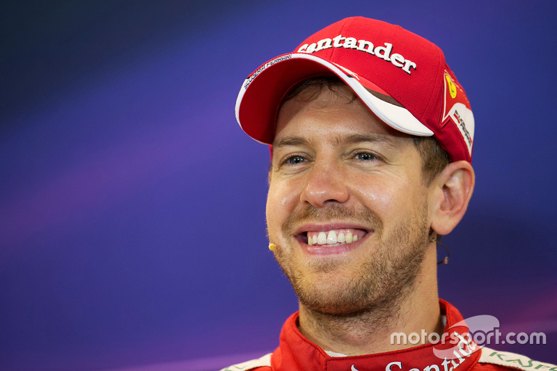 Third place Sebastian Vettel, Ferrari in the FIA Press Conference - f1-united-states-gp-2015-third-place-sebastian-vettel-ferrari-in-the-fia-press-conference