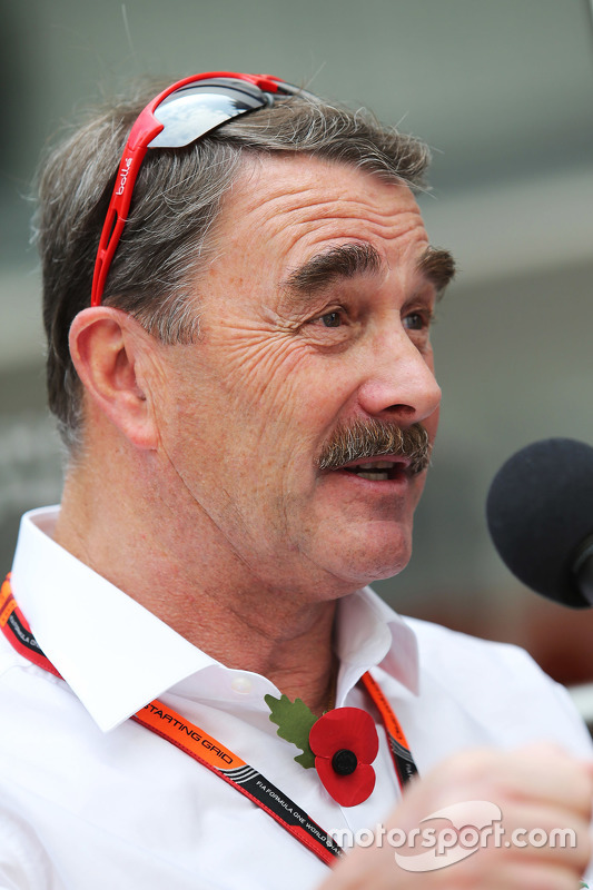 Nigel Mansell at Mexican GP - Formula 1 Photos