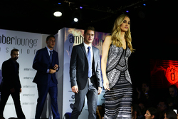 Carmen Jorda, Lotus F1 Team Development Driver and Stoffel Vandoorne, McLaren Test and Reserve Driver at the Amber Lounge Fashion Show